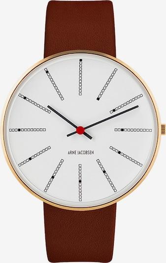 Arne Jacobsen Uhr in gold / rot / schwarz / weiß, Produktansicht
