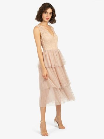 APART Cocktail Dress in Beige