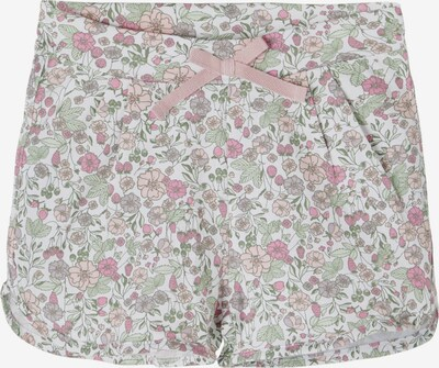 NAME IT Pantalon 'Josephine' en olive / lilas / fuchsia / rose ancienne / blanc, Vue avec produit