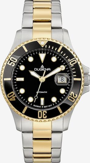DUGENA Uhr in gold / schwarz / silber, Produktansicht
