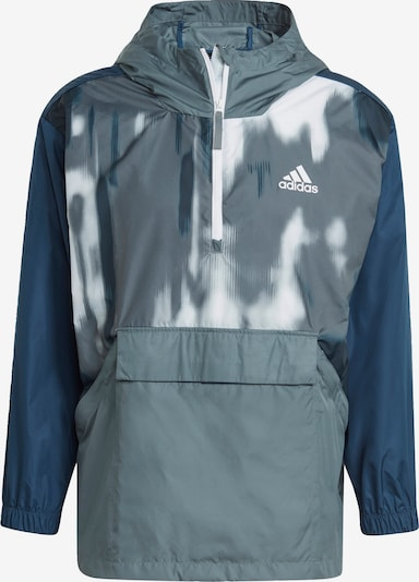 ADIDAS PERFORMANCE Sportjas 'Back to Sport WIND.RDY' in de kleur Navy / Smoky blue / Wit, Productweergave
