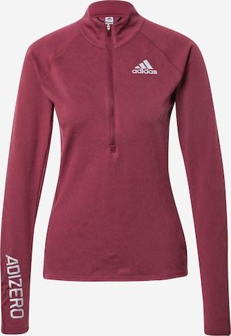 ADIDAS PERFORMANCE Funksjonsskjorte 'Adizero' i rød
