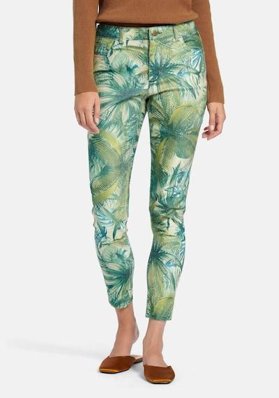 Peter Hahn Jeans in de kleur Groen / Gemengde kleuren, Modelweergave