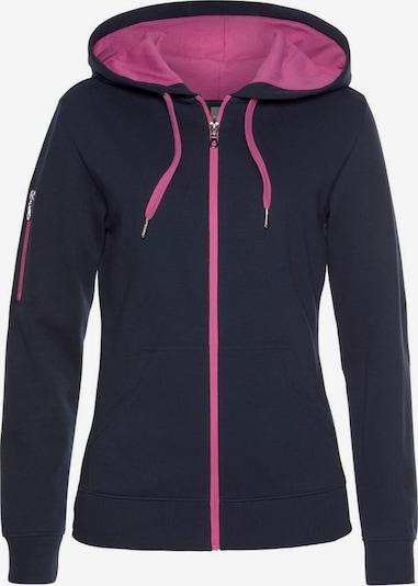 BENCH Sweatvest in de kleur Navy / Pink, Productweergave