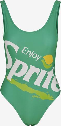 Merchcode Badedrakt 'Sprite' i grønn