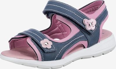 Däumling Sandale in blau / altrosa, Produktansicht