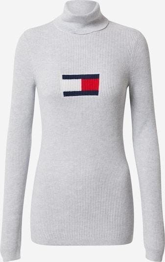 Tommy Jeans Sveter - tmavomodrá / sivá / červená / biela, Produkt