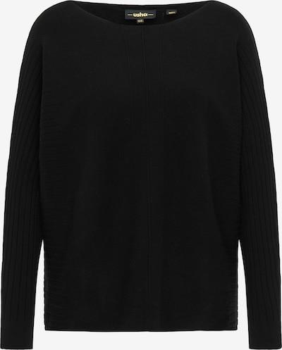 usha BLACK LABEL Pullover in schwarz: Frontalansicht