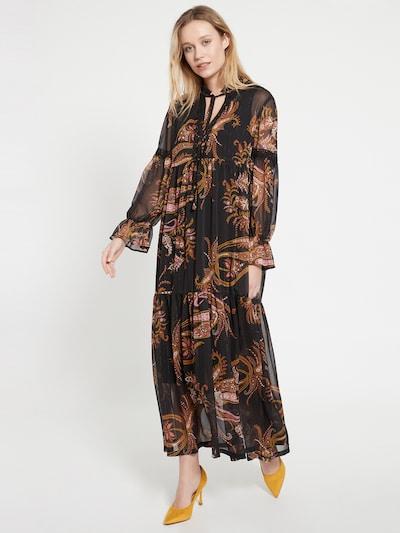 Ana Alcazar Kleid 'Baiky' in braun / schwarz, Modelansicht