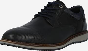 BULLBOXER Δετό παπούτσι σε μαύρο