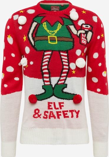 Megztinis 'Safety' iš BRAVE SOUL , spalva - raudona / balta, Prekių apžvalga