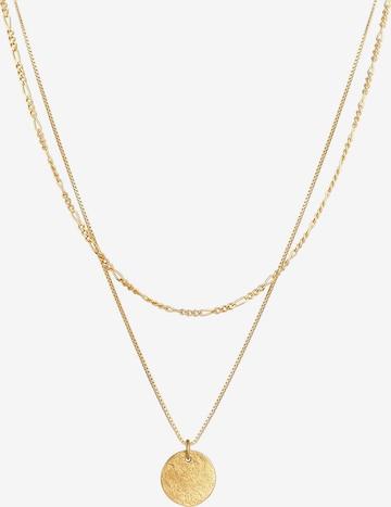 ELLI Halskette Figaro, Layer in Gold
