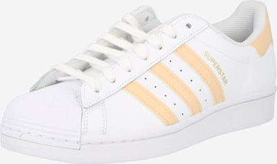 ADIDAS ORIGINALS Sneaker low 'Superstar' i lyseorange / hvid, Produktvisning