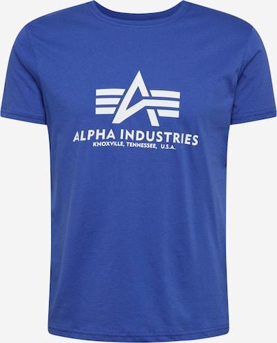 ALPHA INDUSTRIES Majica | modra / bela barva, Prikaz izdelka