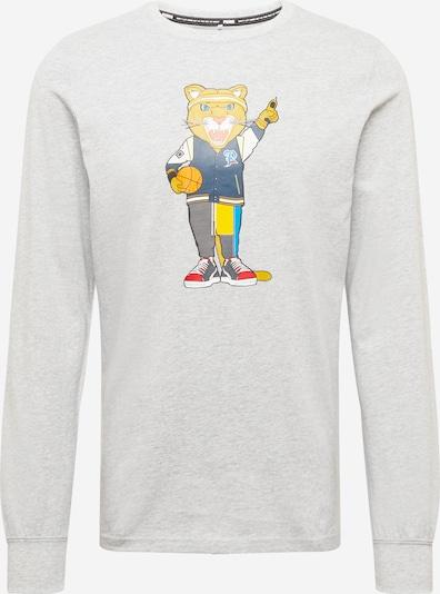 PUMA Sportshirt 'Dylan' in nachtblau / hellgrau / orange / rot / weiß, Produktansicht