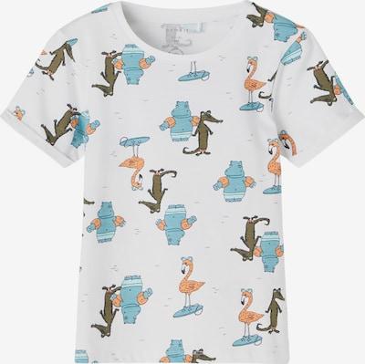 NAME IT T-shirt 'Johan' i ljusblå / khaki / orange / vit, Produktvy