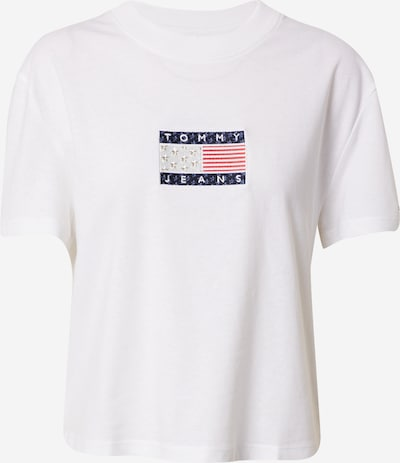 Tommy Jeans T-Shirt 'Star Americana' in blau / rot / silber / weiß, Produktansicht
