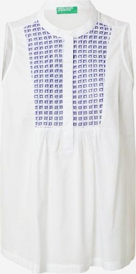 UNITED COLORS OF BENETTON Blusa en azul real / blanco, Vista del producto