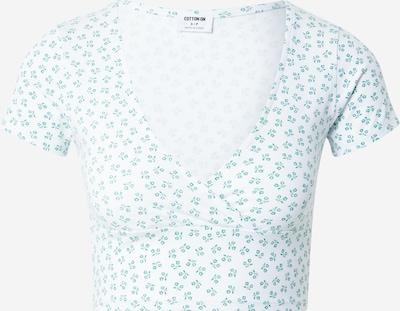Cotton On Shirt 'TONI' in grün / weiß, Produktansicht