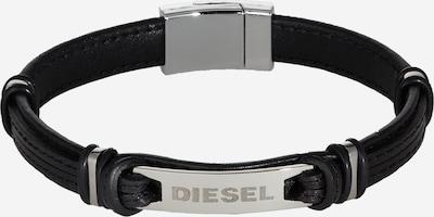 DIESEL Pulsera 'A-PLAK' en gris plateado / negro, Vista del producto