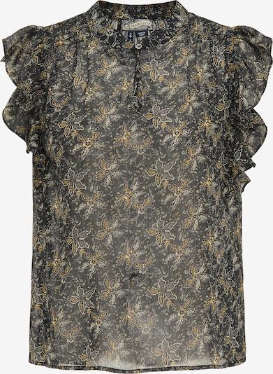 DreiMaster Vintage Blouse in de kleur Geel / Zwart / Wit: Vooraanzicht