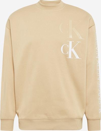 Calvin Klein Jeans Sweatshirt in de kleur Beige / Wit, Productweergave