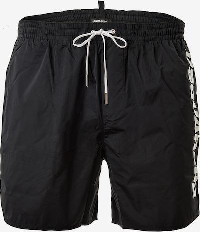 DSQUARED2  Badeshorts in schwarz / weiß, Produktansicht