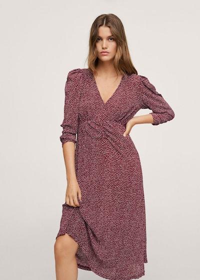 MANGO Kleid 'pomelo1' in rubinrot / weiß, Modelansicht