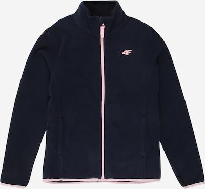 4F Functionele fleece jas in de kleur Navy / Lichtroze, Productweergave