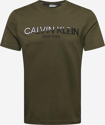 Marškinėliai iš Calvin Klein, spalva – alyvuogių spalva / juoda / balta, Prekių apžvalga