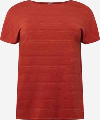 ONLY Carmakoma T-Shirt 'MOSTER' in rostrot / schwarz / silber, Produktansicht