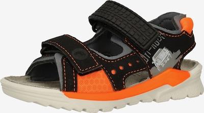 RICOSTA Sandale in grau / orange / schwarz, Produktansicht