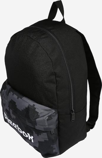 Sportinė kuprinė iš Reebok Sport, spalva – šviesiai pilka / tamsiai pilka / juoda / balta, Prekių apžvalga