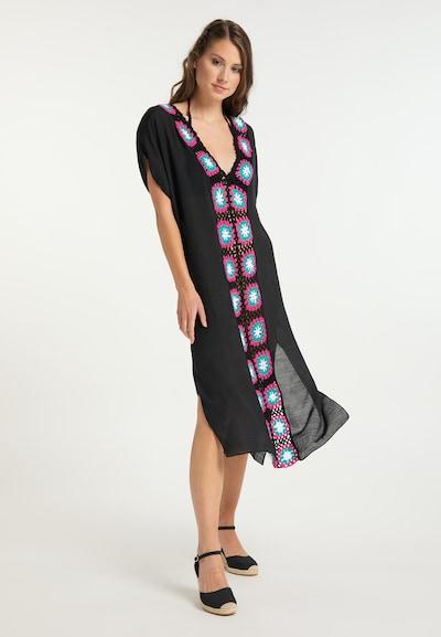 IZIA Vêtement de plage en noir, Vue avec modèle