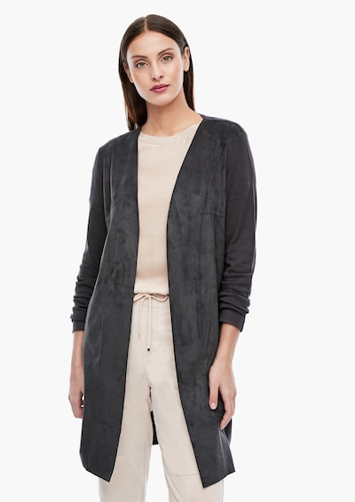 s.Oliver BLACK LABEL Strickjacke in grau, Modelansicht