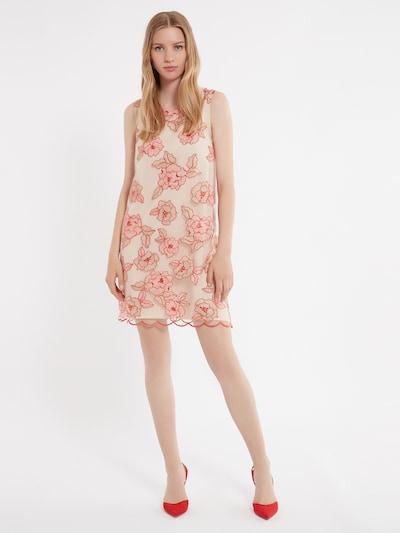 Ana Alcazar A-Linien Kleid ' Zatta ' in beige / rot, Modelansicht