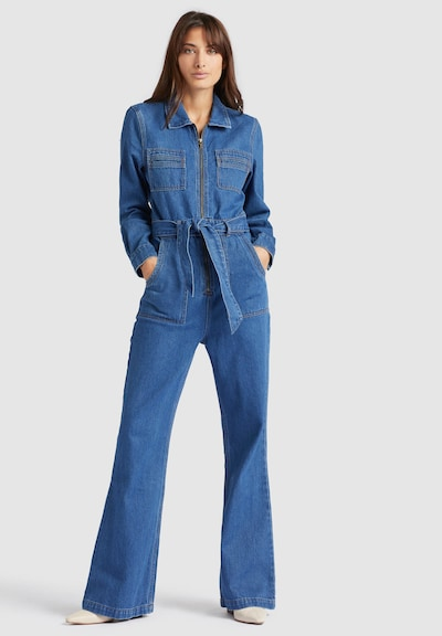khujo Jumpsuit ' Mayis ' in de kleur Blauw denim, Modelweergave