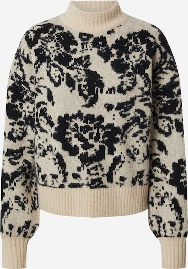 EDITED Sweter 'Linda' w kolorze beżowy / czarnym, Podgląd produktu