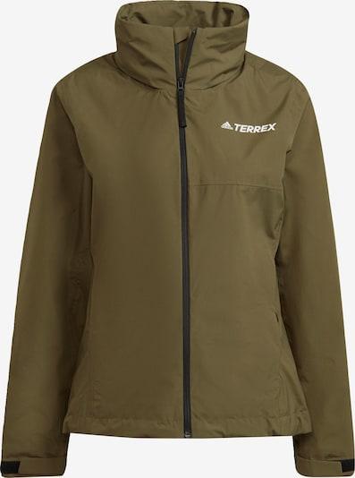 adidas Terrex Outdoorjas in de kleur Groen / Wit, Productweergave