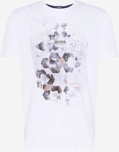 BOSS Casual T-Krekls gaiši brūns / tumši pelēks / balts, Preces skats