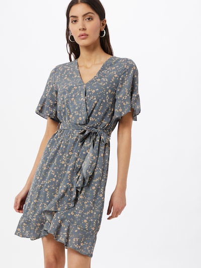 SISTERS POINT Kleid 'GRETO' in dunkelblau / grün / lachs / weiß, Modelansicht