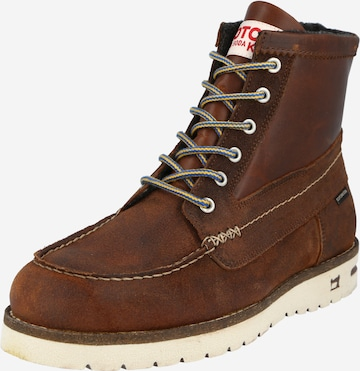 SCOTCH & SODA Boots med snörning 'Levant' i brun