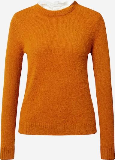 VILA Pullover in orange / weiß, Produktansicht