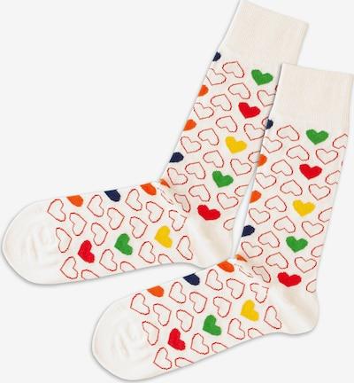 DillySocks Socken in creme / gelb / grasgrün / rot, Produktansicht