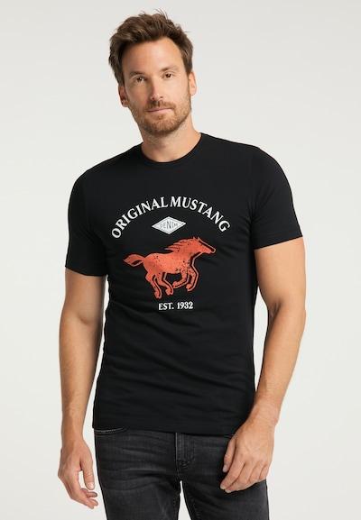 MUSTANG T-Shirt in schwarz: Frontalansicht