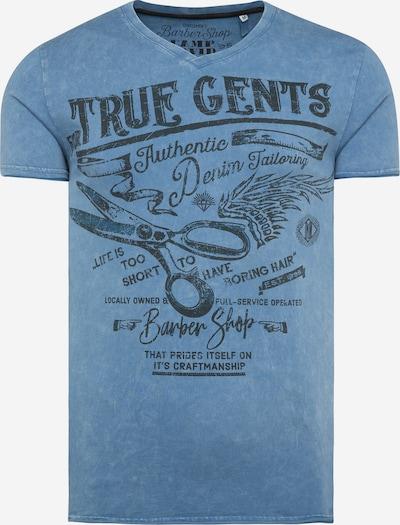 Tricou CAMP DAVID pe albastru / negru, Vizualizare produs