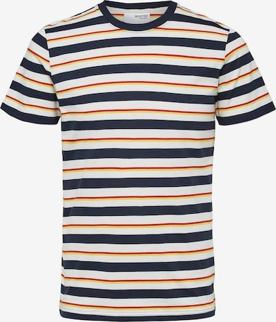 SELECTED HOMME T-shirt 'Julius' i mörkblå / ljusgul / orange / vit, Produktvy