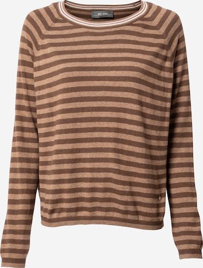 MOS MOSH Pullover 'Wyn' in creme / kastanienbraun / hellbraun, Produktansicht