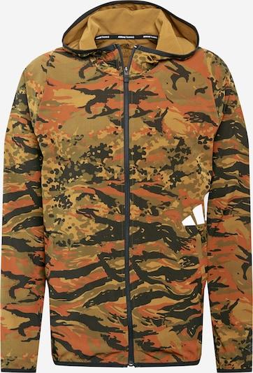 ADIDAS PERFORMANCE Športová bunda - kaki / tmavooranžová / čierna / biela, Produkt
