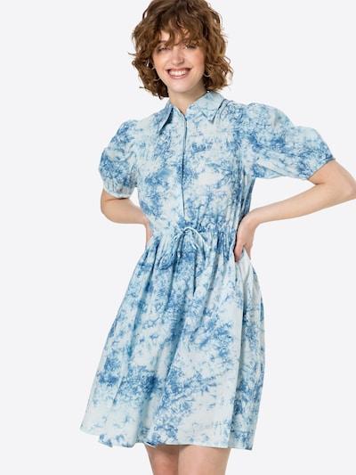 Y.A.S Košeľové šaty 'OCEAN' - modrá / biela, Model/-ka
